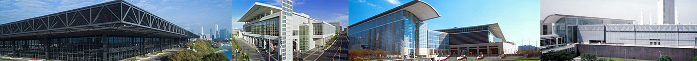 collage of mccormick place buildings