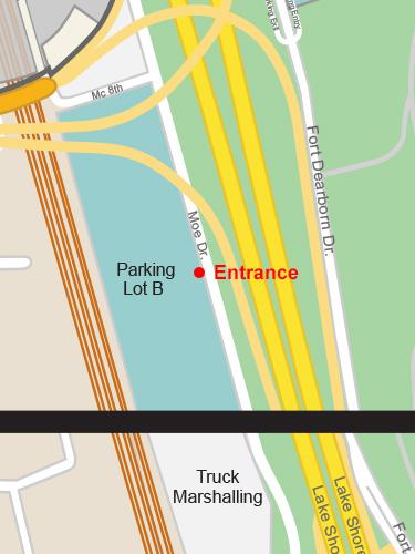 Parking Lot B Entrance